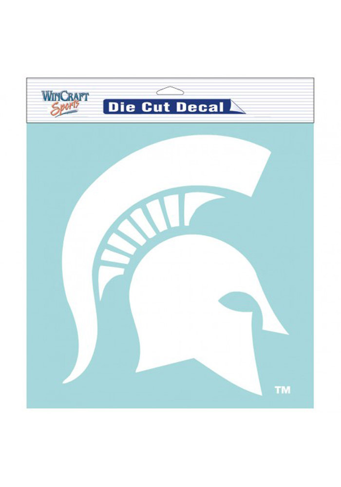 Michigan State Spartans 8x8 White Perfect Cut Decal - Image 1