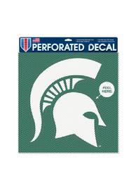 Michigan State Spartans 12x12 Perforated Auto Decal - Green