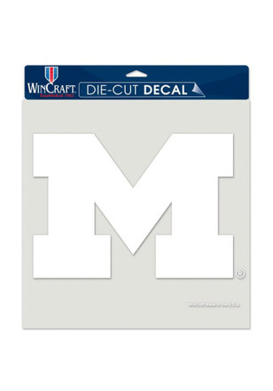 Michigan Wolverines 8x8 White Perfect Cut Decal