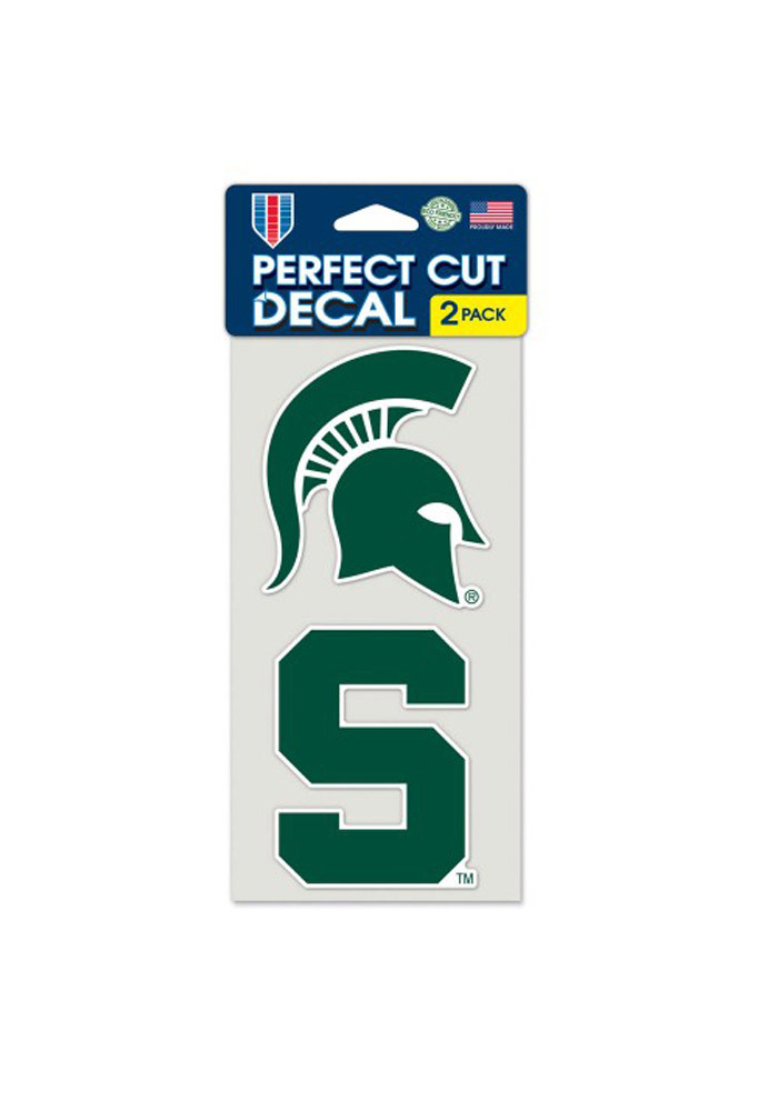 Michigan State Spartans 4x4 2 Pack Perfect Cut Decal - Image 1