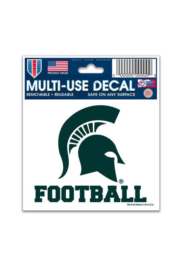 Michigan State Spartans 3x4 Football Multi Use Decal - Image 1