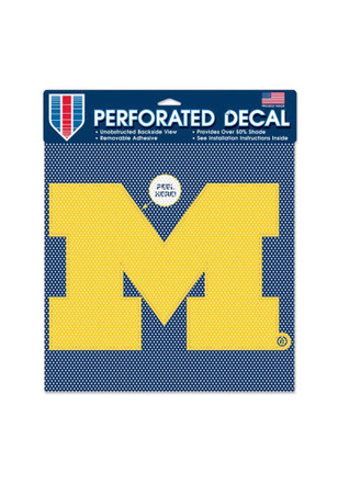 Michigan Wolverines 12x12 Perforated Decal