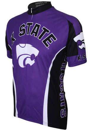 K-State Wildcats Mens Purple Performance Cycling Jersey