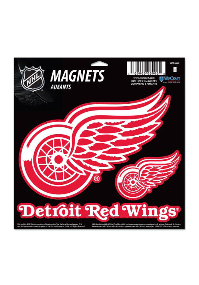 Detroit Red Wings 11x11 Multi Pack Magnet