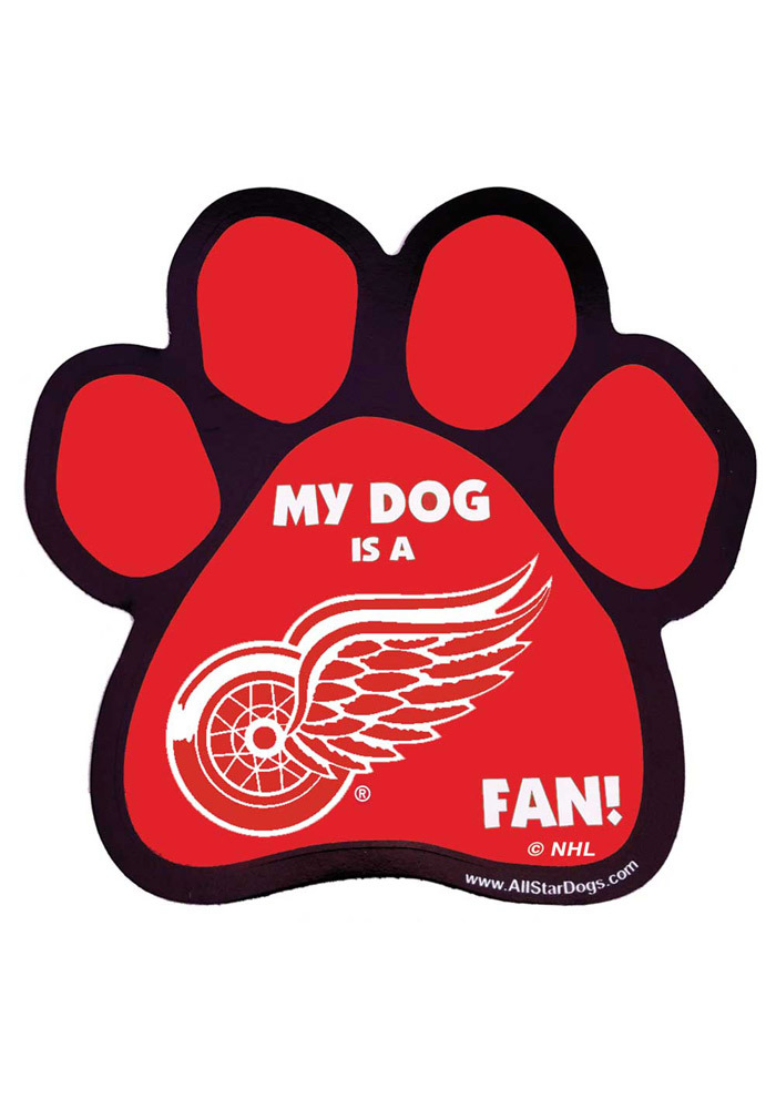 Detroit Red Wings Paw Pet Magnet - Image 1