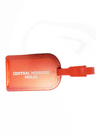 Central Missouri Mules Team Color Luggage Tag - Red