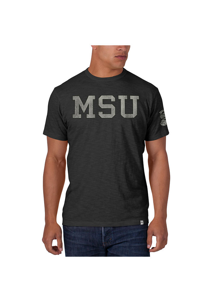 47 Michigan State Spartans Charcoal Two Peat Short Sleeve Fashion T Shirt - Image 1