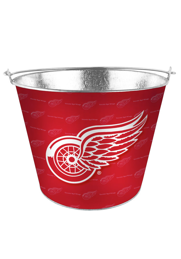 Detroit Red Wings 5qt Galvanized Bucket - Image 1