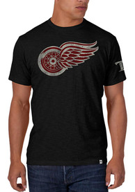 47 Detroit Red Wings Black Two Peat Fashion Tee