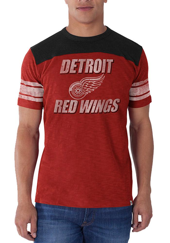 47 Detroit Red Wings Red Title Run Short Sleeve Fashion T Shirt - Image 1