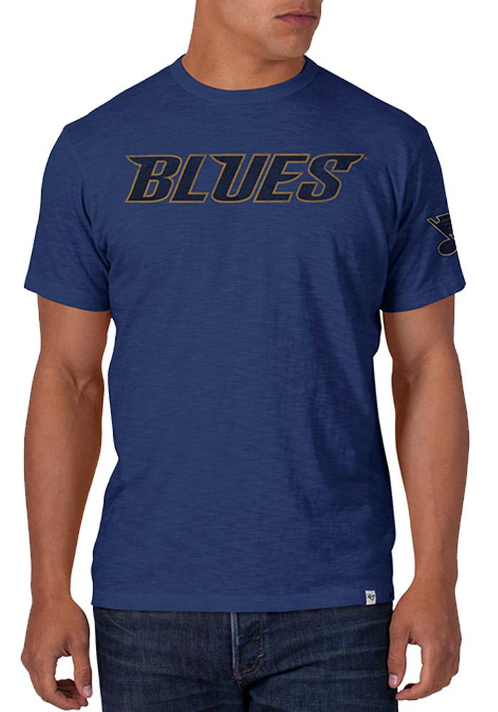 47 St Louis Blues Blue Two Peat Short Sleeve Fashion T Shirt - Image 1