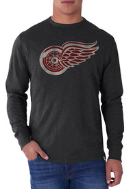 47 Detroit Red Wings Charcoal Scrum Fashion Tee
