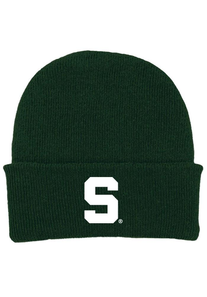 Michigan State Spartans Green Solid Newborn Knit Hat - Image 1
