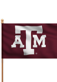 Texas A&M Aggies 3x5 Maroon Sleeve Silk Screen Sleeve