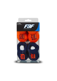 Detroit Tigers Baby 2pk Knit Bootie Boxed Set - Navy Blue