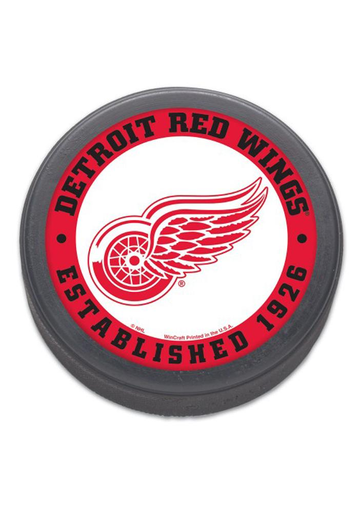 Detroit Red Wings Team Logo Hockey Puck - Image 1