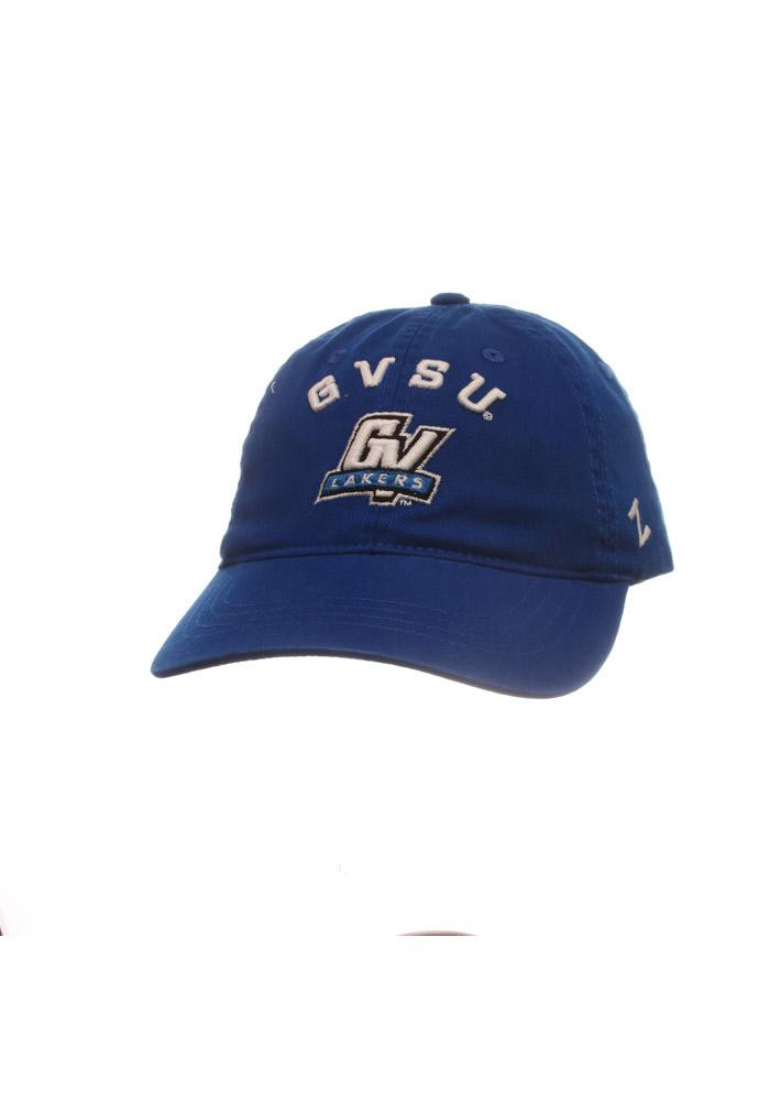 Zephyr Grand Valley State Lakers Mens Blue Centerpiece Adjustable Hat - Image 1