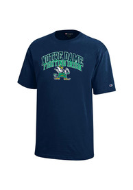 Notre Dame Fighting Irish Youth Navy Blue Arch Mascot T-Shirt