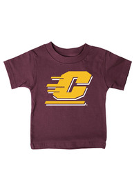 Central Michigan Chippewas Infant Logo T-Shirt - Maroon