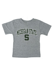 Michigan State Spartans Infant Arch Short Sleeve T-Shirt Grey