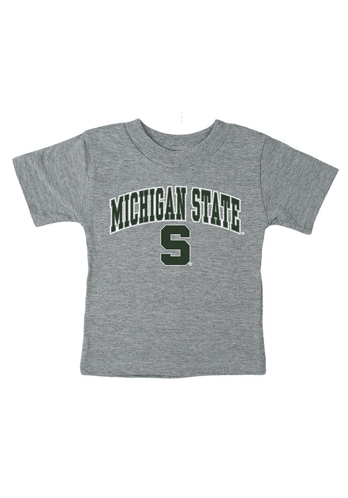 Michigan State Spartans Baby T-Shirt Grey Arch Short Sleeve Tee - Image 1