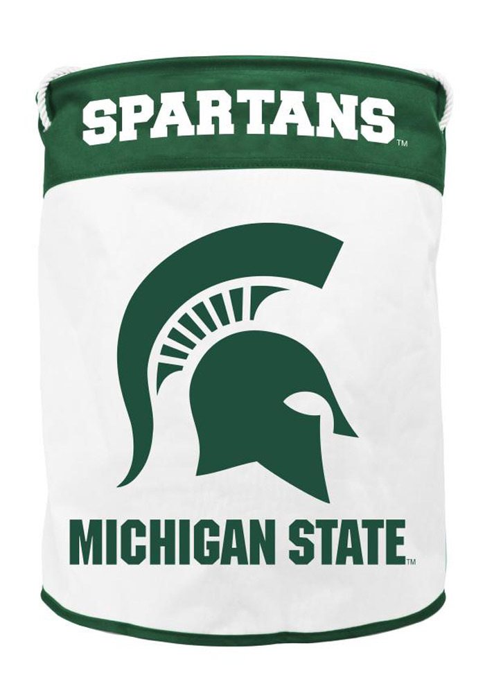 Michigan State Spartans Foldable Canvas Laundry Hamper - Image 1
