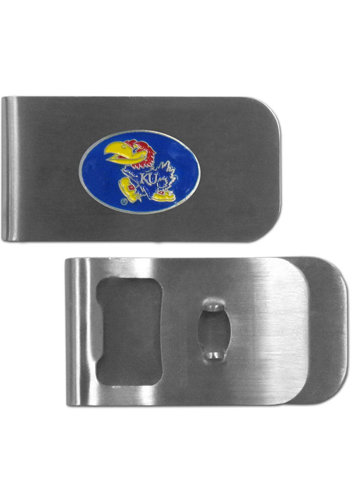 Kansas Jayhawks Bottle Opener Mens Money Clip - Image 1