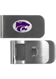 K-State Wildcats Bottle Opener Money Clip - Silver