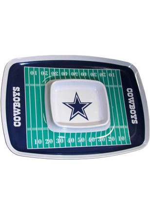 Dallas Cowboys Field Chip And Dip Serving Tray