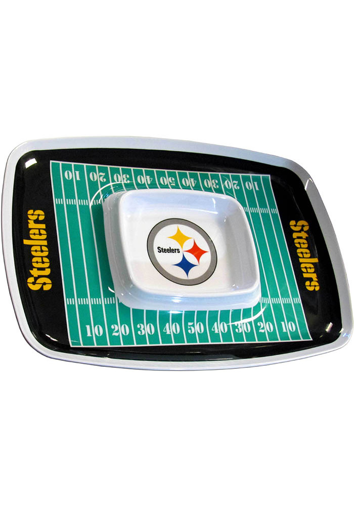 Pittsburgh Steelers Field Chip and Dip Serving Tray - Image 1