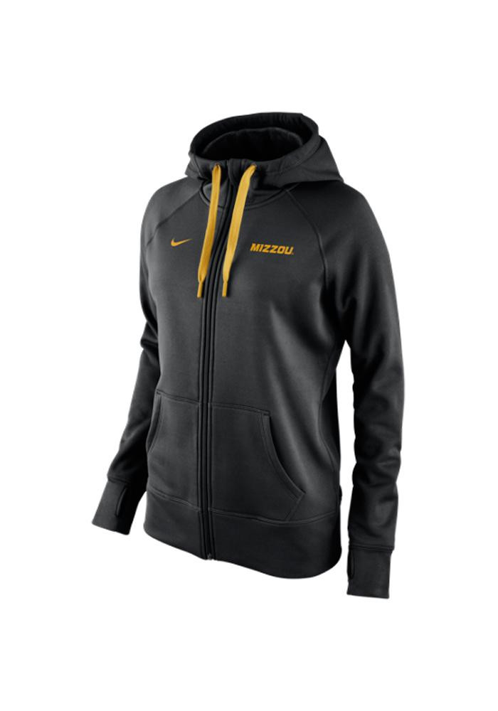 Nike Missouri Tigers Womens Black All Time Long Sleeve Full Zip Jacket - Image 1