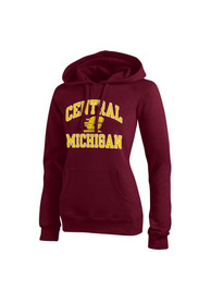 Central Michigan Chippewas Womens Maroon Eco Sport Hoodie