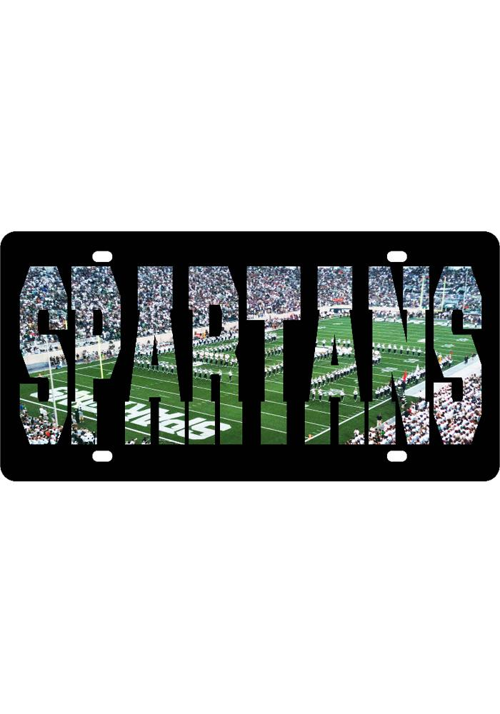 Michigan State Spartans Football PhotoVision Car Accessory License Plate