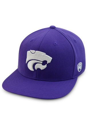 K-State Wildcats Top of the World Mens Purple Prime Fitted Hat