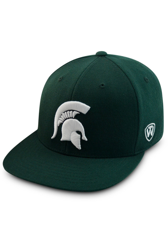 Top of the World Michigan State Spartans Mens Green Prime Fitted Hat - Image 1