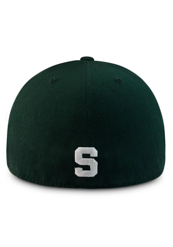 Top of the World Michigan State Spartans Mens Green Prime Fitted Hat - Image 2