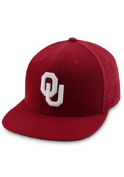 Top of the World OU Sooners Mens crimson Prime Fitted Hat