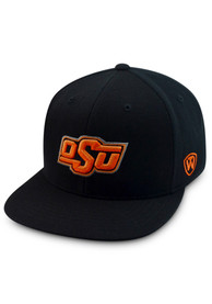 Oklahoma State Cowboys Top of the World Prime Fitted Hat - Black
