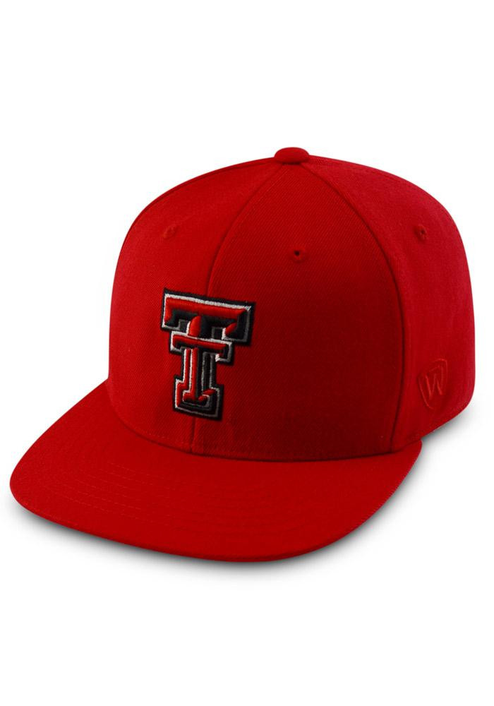 Top of the World Texas Tech Red Raiders Mens Red Prime Fitted Hat - Image 1