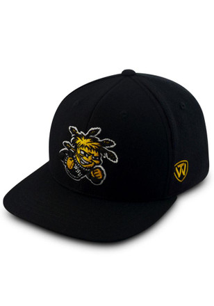 Wichita State Shockers Top of the World Mens Black Prime Fitted Hat