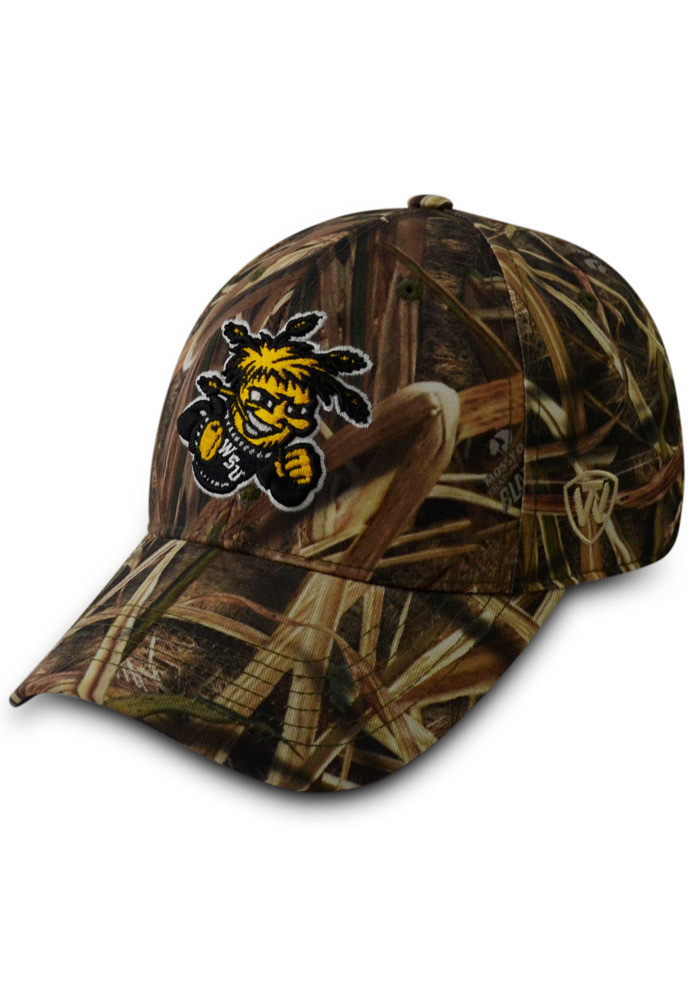 Top of the World Wichita State Shockers Mens Green Blade Camo 1Fit Flex Hat - Image 1