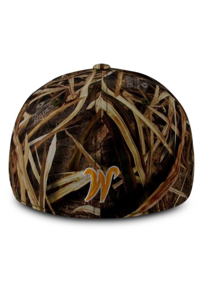 Top of the World Wichita State Shockers Mens Green Blade Camo 1Fit Flex Hat - Image 3