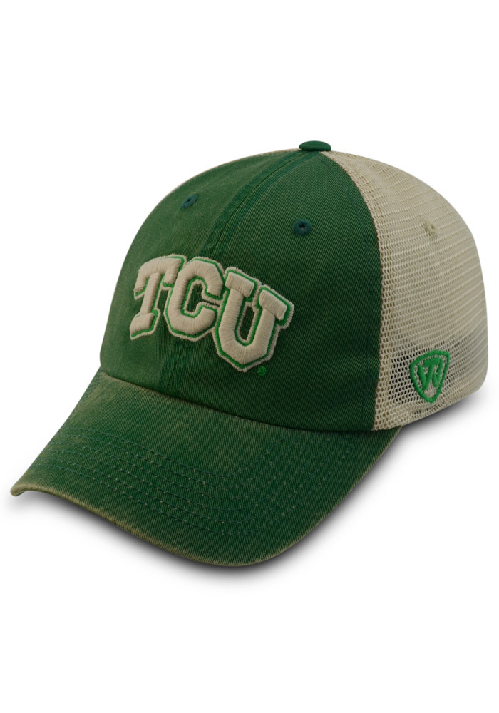 low priced 52f03 db810 ... discount top of the world tcu horned frogs green vintage luck adjustable  hat d2664 c0123