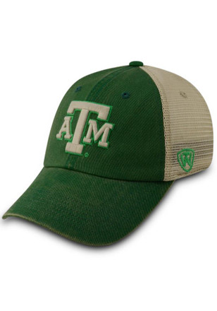 Top of the World Texas A&M Aggies Mens Green Vintage Luck Adjustable Hat
