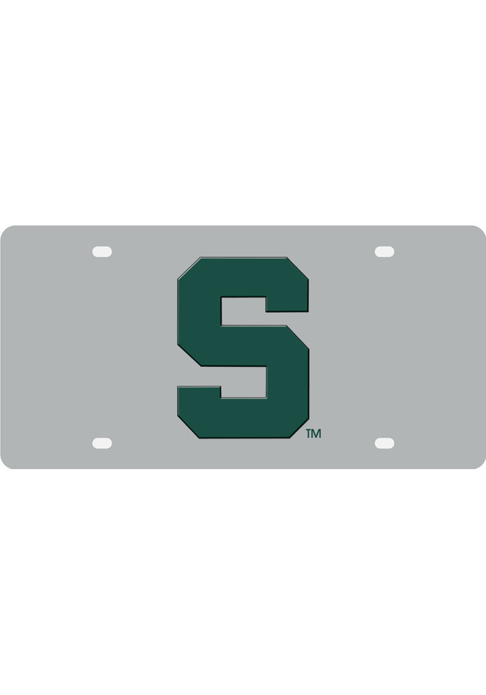 Michigan State Spartans Stainless Car Accessory License Plate - Image 1