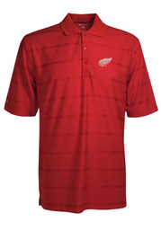 Antigua Detroit Red Wings Mens Red Tone Short Sleeve Polo