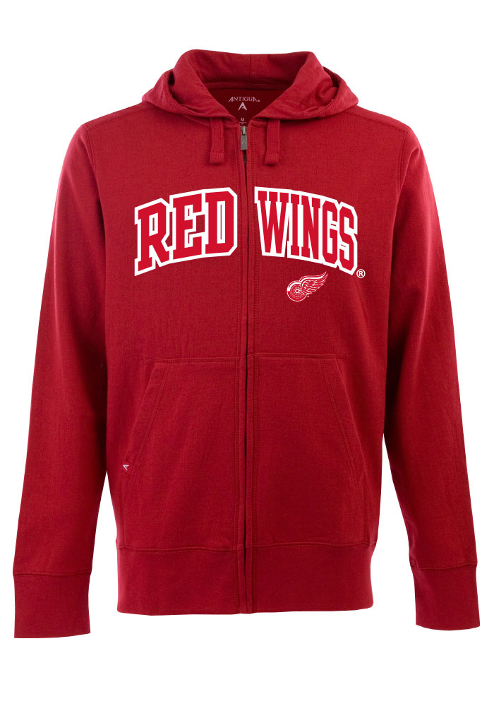 Antigua Detroit Red Wings Mens Red Signature Long Sleeve Full Zip Jacket - Image 1