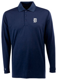 Antigua Detroit Tigers Navy Blue Exceed Polo