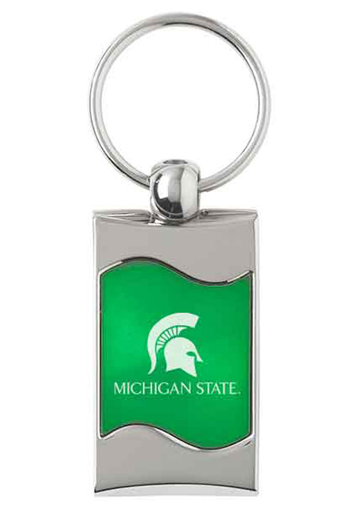 Michigan State Spartans Green Wave Keychain - Image 1