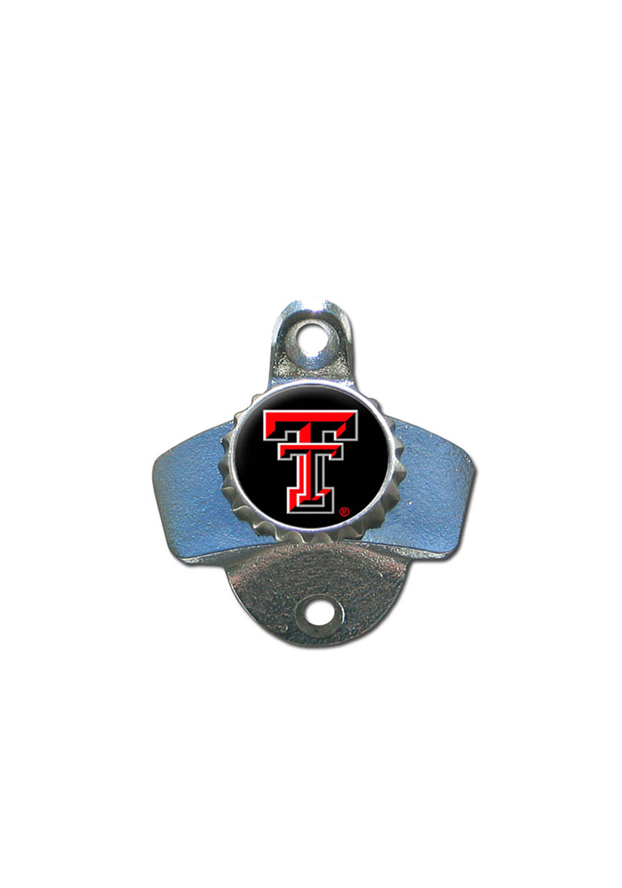 Texas Tech Red Raiders Silver Wall Mount Bottle Bottle Opener - Image 1